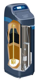 EcoWater water softener cutaway internal view